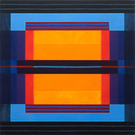 Jeremy Kirwan-Ward, Untitled (2020). Acrylic on board, 40 x 40 cm. Courtesy Gallery 9, Sydney.