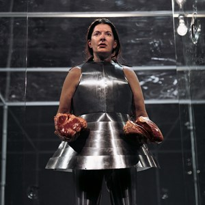 Virgin Warrior - Two Hearts (Performance with Jan Fabre) by Marina Abramović contemporary artwork