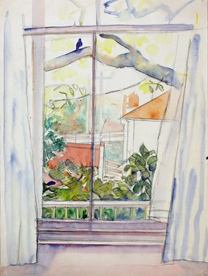 View from Studio Window, Thorndon by Rita Angus contemporary artwork