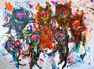 Spontaneous Diversity: Fire by Takashi Hara contemporary artwork
