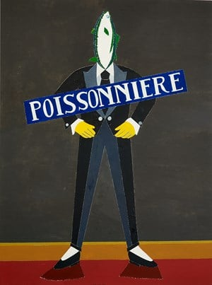 Poissonière by Eduardo Arroyo contemporary artwork