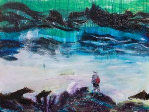 看潮者 Tide Watcher by Suling Wang contemporary artwork