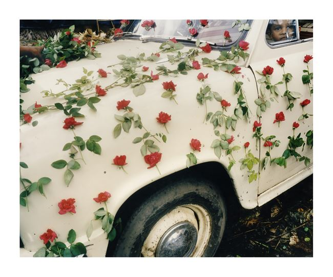 A Decorated Car in the Flower Market, Calcutta by Leo Rubinfien contemporary artwork