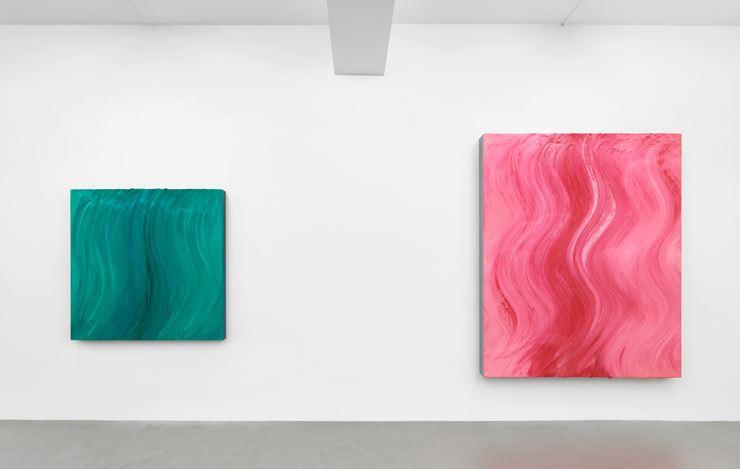 Exhibition view: Jason Martin, Polychrome Futures, Buchmann Galerie (20 November 2020–30 January 2021).Courtesy Buchmann Galerie.