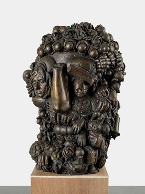 Historic Head by Marcus Harvey contemporary artwork sculpture