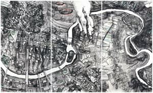 Bird's Eye: Animals Find Glass Most Incomprehensible / Core Secrets / The Third Path by Qiu Zhijie contemporary artwork
