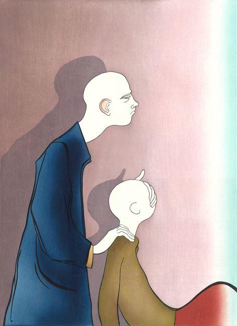 Curtain by Sanya Kantarovsky contemporary artwork
