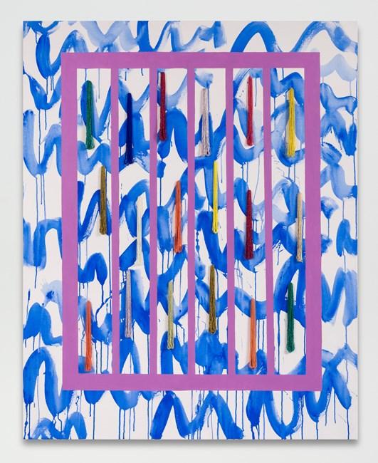 waves by Sarah Cain contemporary artwork