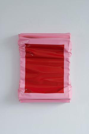 Layers - Small (Red/Brilliant Pink) by Angela De La Cruz contemporary artwork