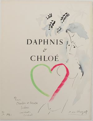 Daphnis und Chloé (frontispiece) by Marc Chagall contemporary artwork
