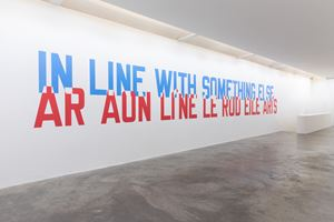 IN LINE WITH SOMETHING ELSE by Lawrence Weiner contemporary artwork