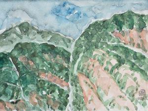 A Ridge of Taroko Mountain II by Lin Chuan-Chu contemporary artwork