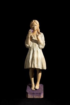 As always, Her Meditation will Walk Around in Midnight. 彼女の思索は今日も真夜中を彷徨うことだろう。 by Sakai Kohta contemporary artwork