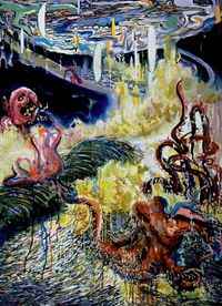 KRAKEN by Cai Jiarui contemporary artwork painting, works on paper