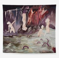 The hollow in the ferns by Sanam Khatibi contemporary artwork textile