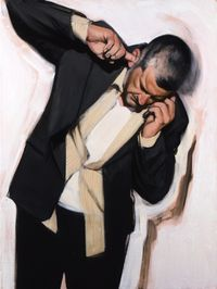 Man Phoning II by Stephen Conroy contemporary artwork painting