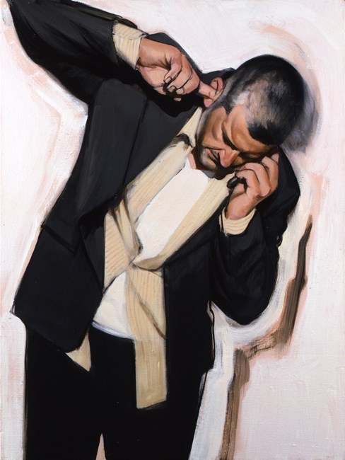 Man Phoning II by Stephen Conroy contemporary artwork