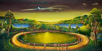 The Circumambulation by Vinod Balak contemporary artwork painting