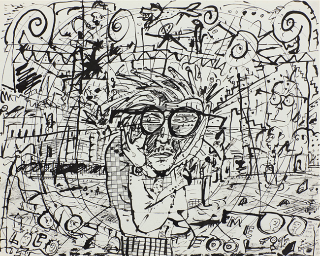 The fool is cool, from the series PEARL Drawing Pad by Milton Machado contemporary artwork
