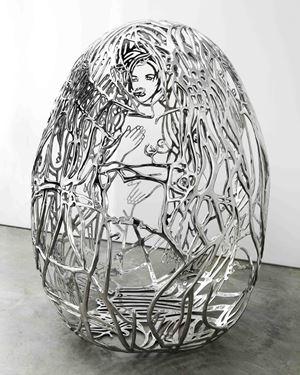 BLUE BRA GIRLS by Ghada Amer contemporary artwork