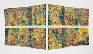 Mask III: For The Children of Dunblane, Scotland by Jack Whitten contemporary artwork