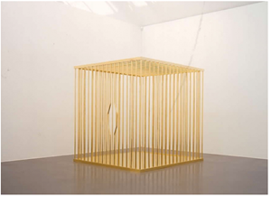 (Gold) Cage LKW by Sylvie Fleury contemporary artwork