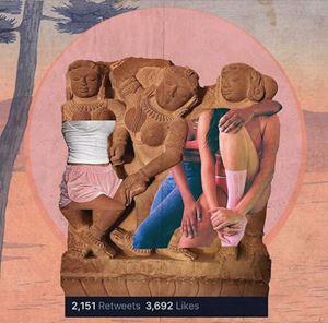 Girls Night Out by Muvindu Binoy contemporary artwork