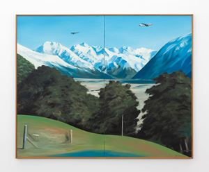 Chase (over the Waimakariri Headwaters) by Ian Scott contemporary artwork