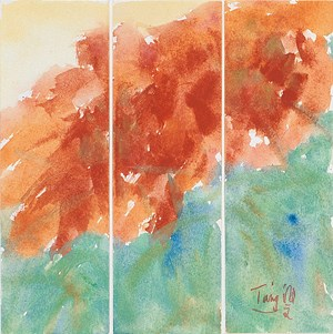 Untitled No.5 Triptych by Hawyen T'ang contemporary artwork
