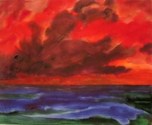 Sonnenuntergang by Herbert Beck contemporary artwork