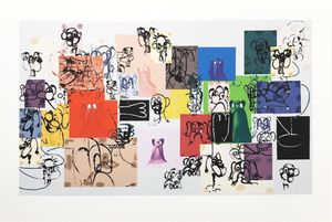 Paper Faces by George Condo contemporary artwork