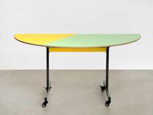 Conference table #1 by Amalia Pica contemporary artwork