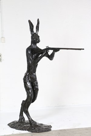 Rabbit Fights Back 1 by Paul Dibble contemporary artwork