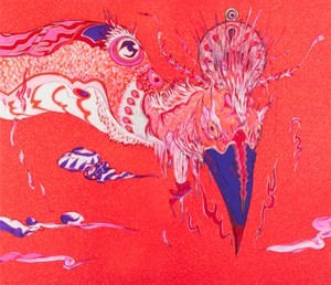 Vermilion Bird by Yoshitaka Amano contemporary artwork