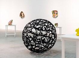 Ghada Amer's 'Earth.Love.Fire' is Leila Heller Gallery's inaugural show