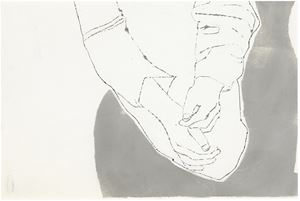 Male Crossed Hands by Andy Warhol contemporary artwork