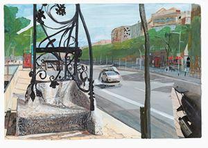 Barcelona, Passeig de Gràcia by Marc Desgrandchamps contemporary artwork
