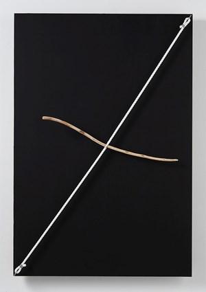 Connected Discrepancies of Space (Flowing Twig) by Kishio Suga contemporary artwork