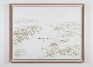 Geese Flying Over a Small Bridge 《小橋群雁行》 by Yeh Shih-Chiang contemporary artwork painting, works on paper