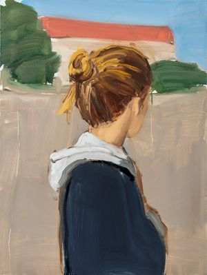 Girl with Hoodie by Gideon Rubin contemporary artwork painting