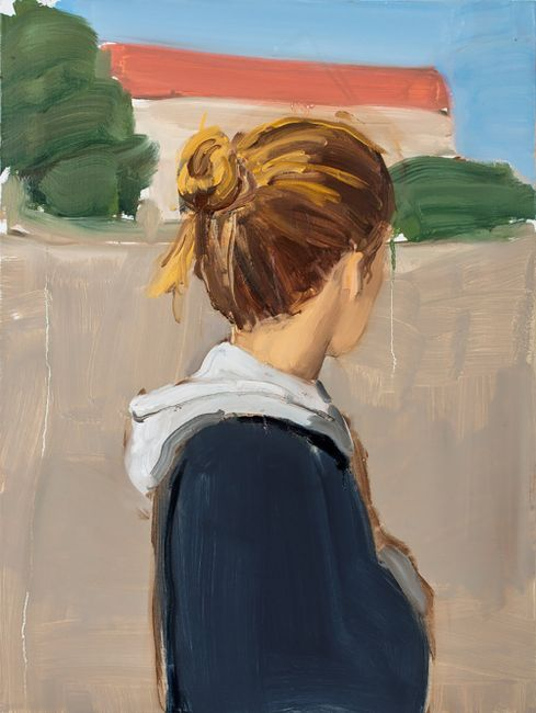 Girl with Hoodie by Gideon Rubin contemporary artwork
