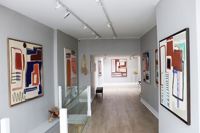 Exhibition view:Laurence Leenaert, QALB DARI (Heart of the Home), Cadogan Contemporary, London (23 February–12 March 2021). CourtesyCadogan Contemporary.