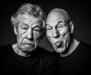 Patrick Stewart & Ian McKellen by Andy Gotts contemporary artwork photography, print