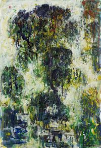Misted Xishan by Lin Chih Chien contemporary artwork painting