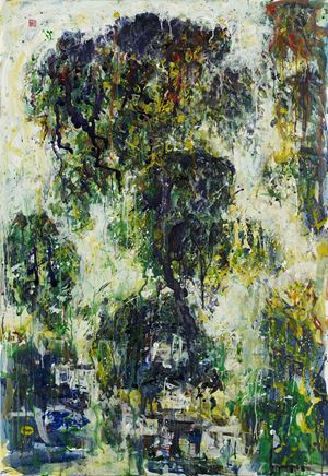 Misted Xishan by Lin Chih Chien contemporary artwork