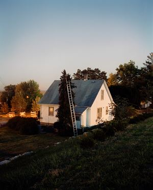 Ladder and House, Omaha, NE by Gregory Halpern contemporary artwork
