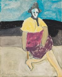 Sally by the Sea by Milton Avery contemporary artwork painting