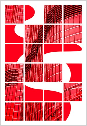 """""""""""""""Plastic Burj Red"""""""""""" by Jérôme Revon contemporary artwork"""