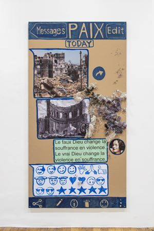 Paix (Chat-Poster) by Thomas Hirschhorn contemporary artwork