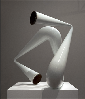 White Pipe Compression by James Angus contemporary artwork